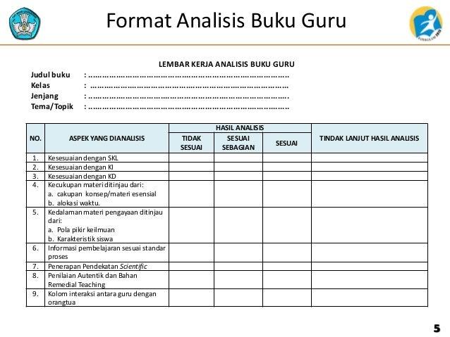 Format Buku Jurnal Harian Kelas Analisis Buku Guru Dan