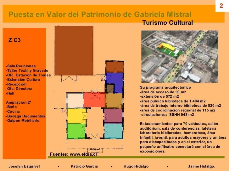 Analisis casa de gabriela mistral las palmeras grupo 01 for Programa arquitectonico biblioteca