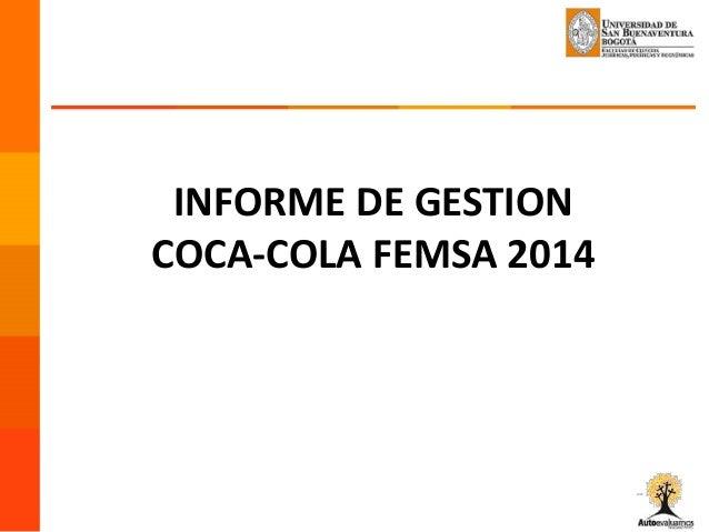 Analisis Interno Femsa Coca Diet coke