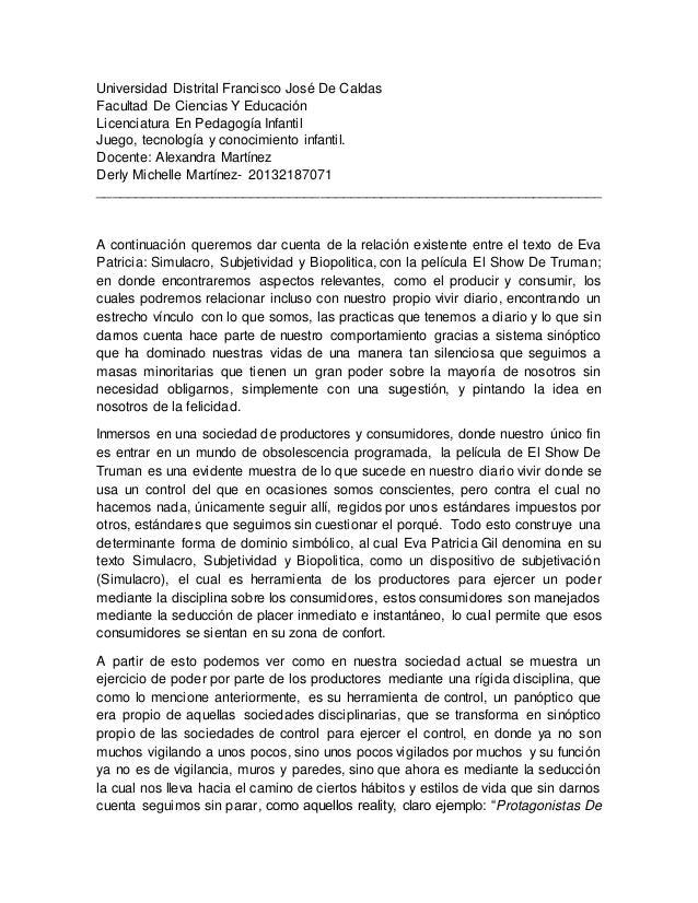 Universidad Distrital Francisco José De Caldas Facultad De Ciencias Y Educación Licenciatura En Pedagogía Infantil Juego, ...