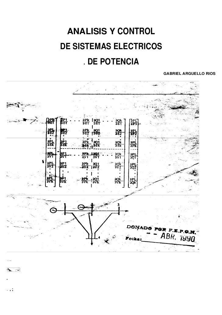 ANALISIS Y CONTROL           DE SISTEMAS ELECTRICOS               . DE POTENCIA                                    GABRIEL...