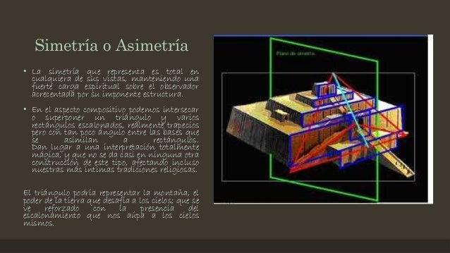 Simetría o Asimetría • La simetría que representa es total en cualquiera de sus vistas, manteniendo una fuerte carga espir...