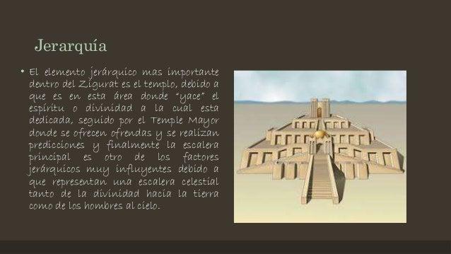"""Jerarquía • El elemento jerárquico mas importante dentro del Zigurat es el templo, debido a que es en esta área donde """"yac..."""