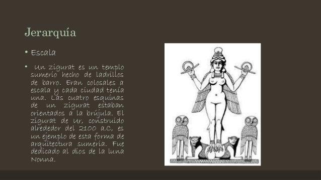 Jerarquía • Escala • Un zigurat es un templo sumerio hecho de ladrillos de barro. Eran colosales a escala y cada ciudad te...