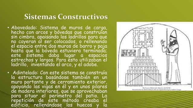 Sistemas Constructivos • Abovedado: Sistema de muros de carga, hecho con arcos y bóvedas que construían sin cimbra, apaisa...