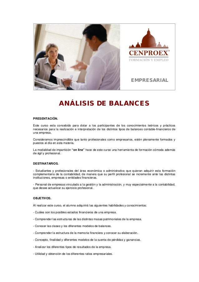 An lisis de balances for Analisis de balances