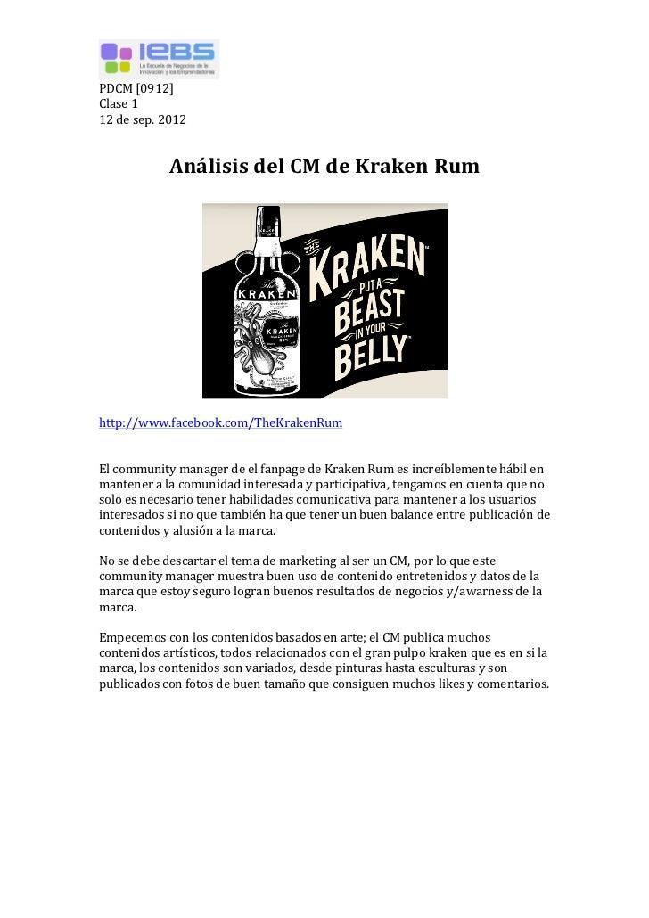 PDCM [0912] Clase 1 12 de sep. 2012                       Análisis del CM de Kraken Rum    ...