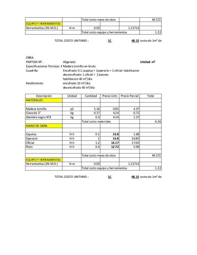Lista de precios mano de obra de la uocra 2016 el sector for Precios mano de obra construccion 2016 espana