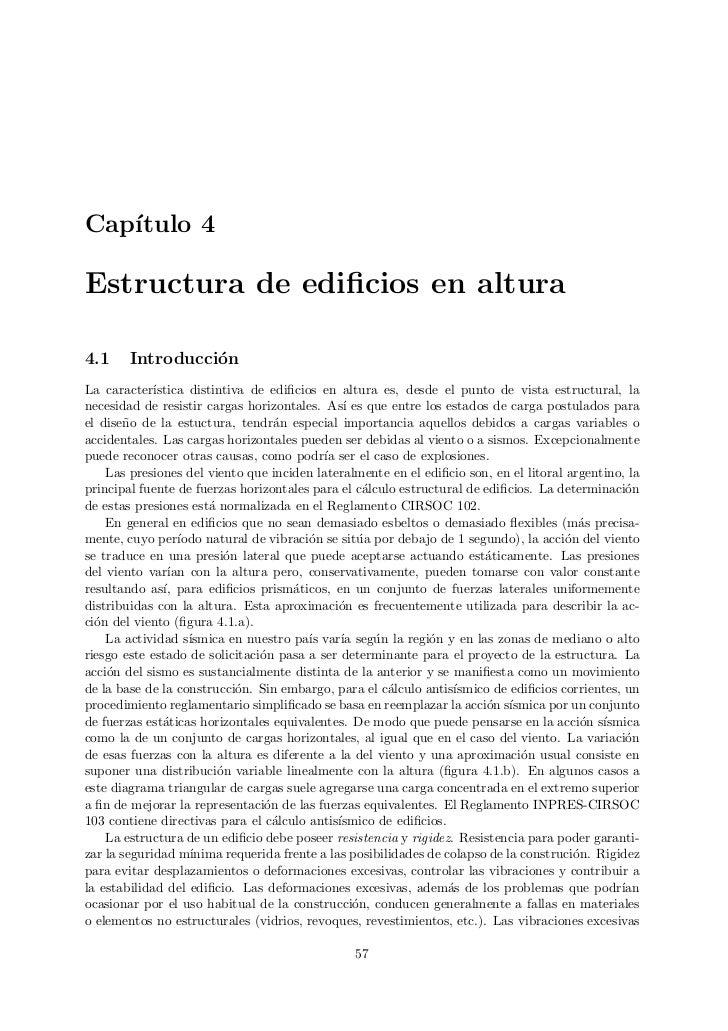 Cap´   ıtulo 4Estructura de edificios en altura4.1     Introducci´n                  oLa caracter´ ıstica distintiva de edi...