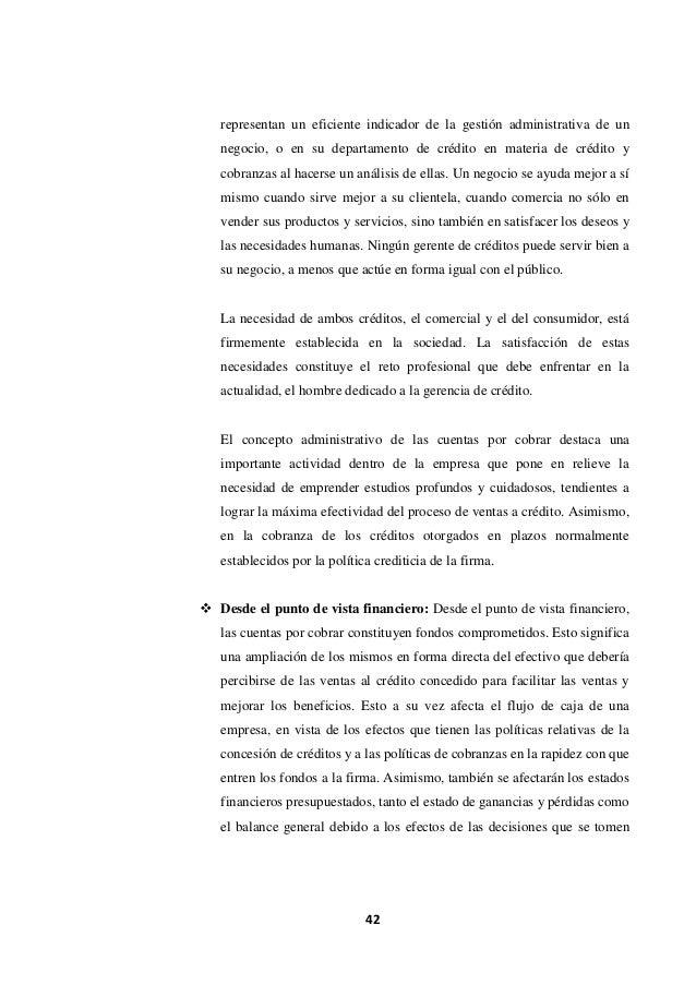 Analisis de la gestión de cobranzas y su efecto en la rentabilidad de…