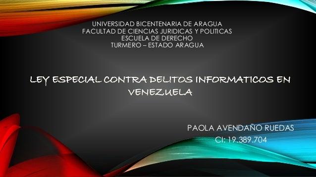 UNIVERSIDAD BICENTENARIA DE ARAGUA FACULTAD DE CIENCIAS JURIDICAS Y POLITICAS ESCUELA DE DERECHO TURMERO – ESTADO ARAGUA P...