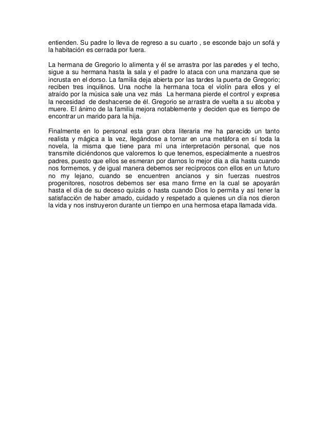 """ANALISIS DE LA OBRA LITERARIA """"LA METAMORFOSIS"""" Slide 3"""