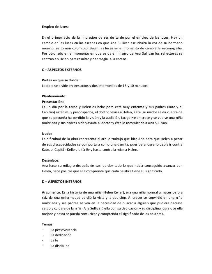 Analisis de la obra el milagro de ana sullivan Slide 2