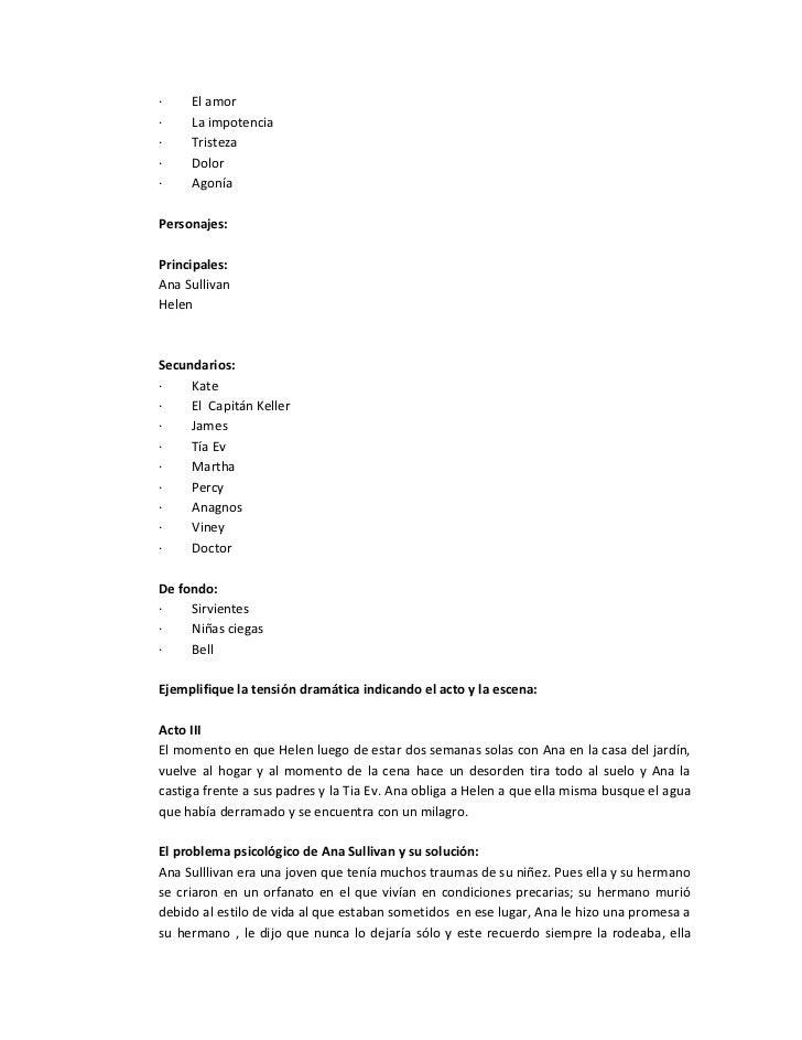 Analisis de la obra el milagro de ana sullivan Slide 3