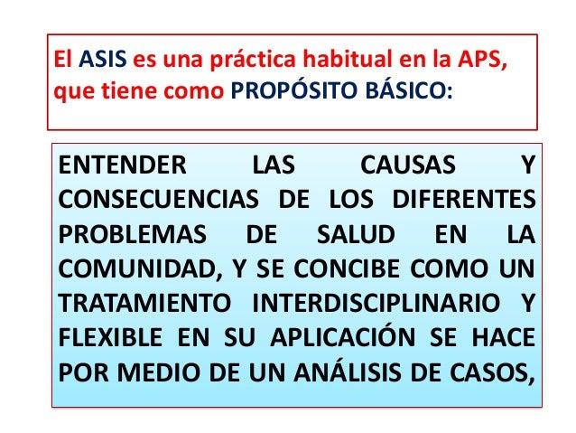 ENTENDER LAS CAUSAS Y CONSECUENCIAS DE LOS DIFERENTES PROBLEMAS DE SALUD EN LA COMUNIDAD, Y SE CONCIBE COMO UN TRATAMIENTO...
