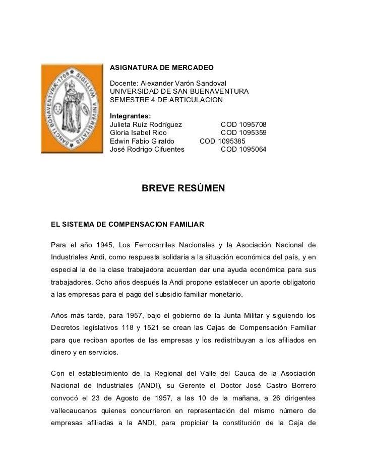 ASIGNATURA DE MERCADEO                   Docente: Alexander Varón Sandoval                   UNIVERSIDAD DE SAN BUENAVENTU...