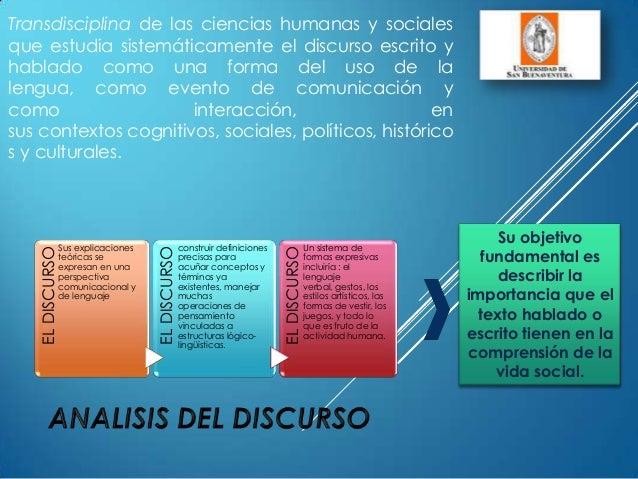 Transdisciplina de las ciencias humanas y socialesque estudia sistemáticamente el discurso escrito yhablado como una forma...