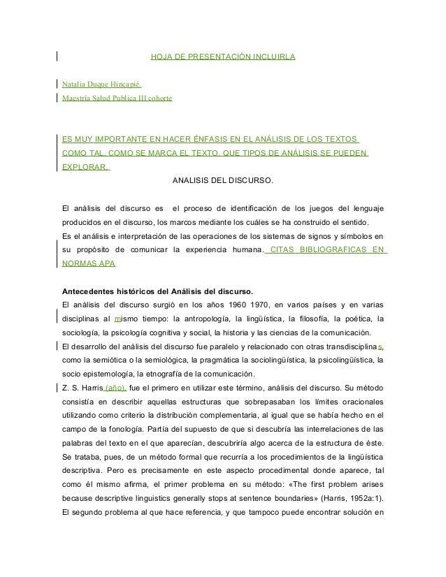 HOJA DE PRESENTACIÓN INCLUIRLANatalia Duque Hincapié.Maestría Salud Publica III cohorteES MUY IMPORTANTE EN HACER ÉNFASIS ...