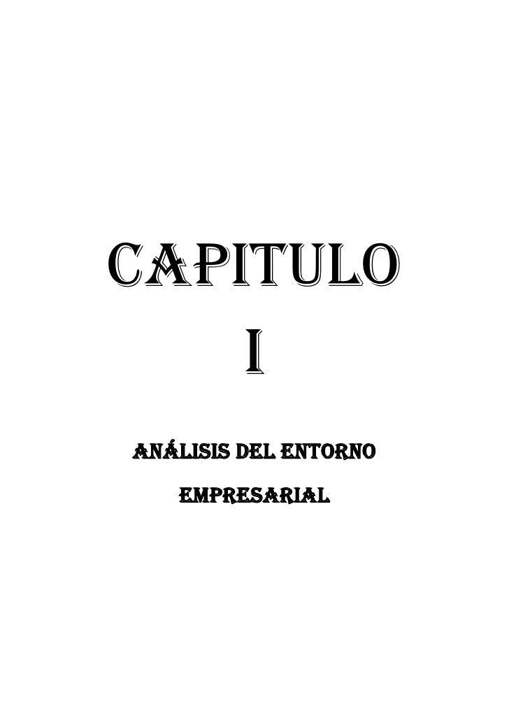 CAPITULO         IANÁLISIS DEL ENTORNO   EMPRESARIAL