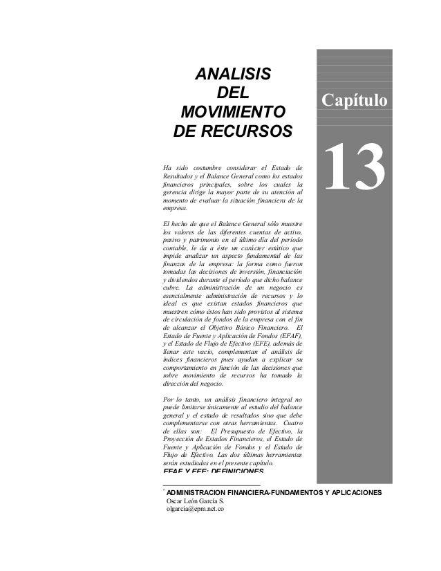 ANALISIS         DEL                                        Capítulo      MOVIMIENTO     DE RECURSOSHa sido costumbre cons...