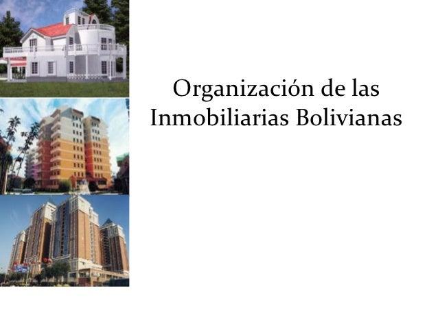 Organización de lasInmobiliarias Bolivianas