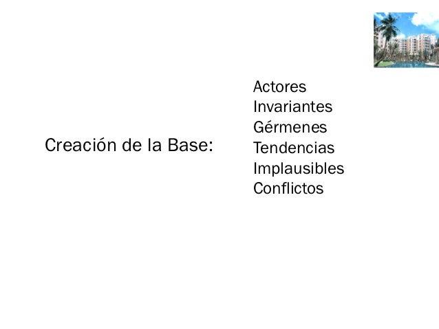 Actores                       Invariantes                       GérmenesCreación de la Base:   Tendencias                 ...