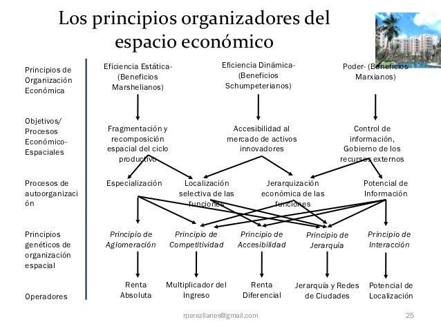 Los principios organizadores del                espacio económico                 Eficiencia Estática-               Efici...