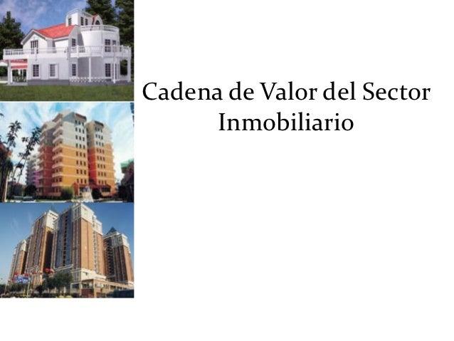 Cadena de Valor del Sector      Inmobiliario