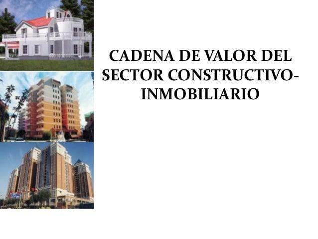 CADENA DE VALOR DELSECTOR CONSTRUCTIVO-    INMOBILIARIO