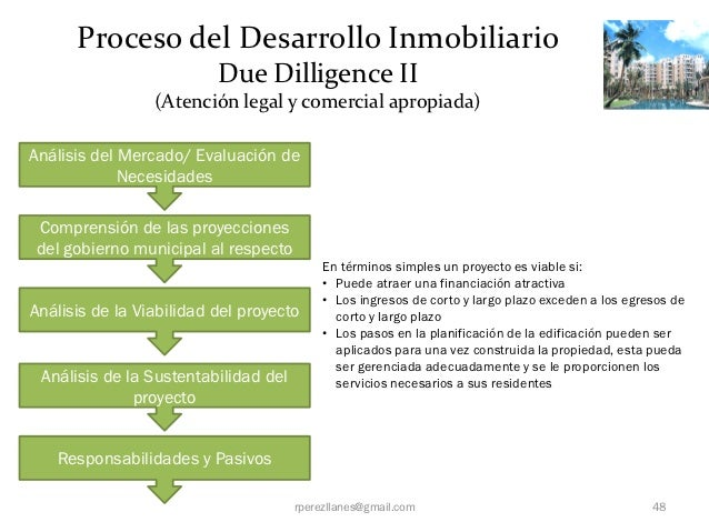 Proceso del Desarrollo Inmobiliario                          Due Dilligence II                 (Atención legal y comercial...