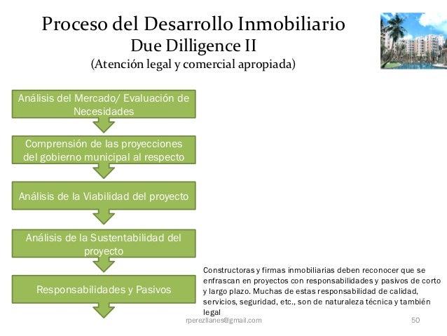 Proceso del Desarrollo Inmobiliario                        Due Dilligence II               (Atención legal y comercial apr...