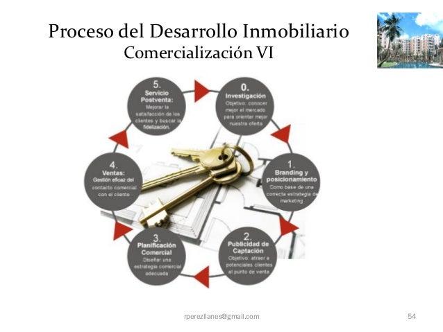 Proceso del Desarrollo Inmobiliario        Comercialización VI               rperezllanes@gmail.com   54