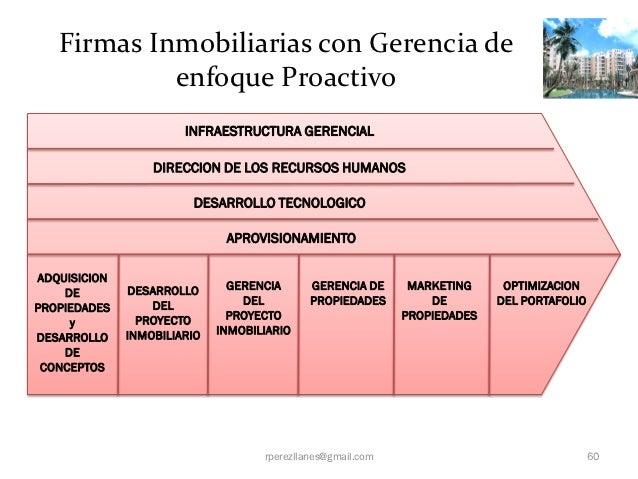 Firmas Inmobiliarias con Gerencia de            enfoque Proactivo                       INFRAESTRUCTURA GERENCIAL         ...
