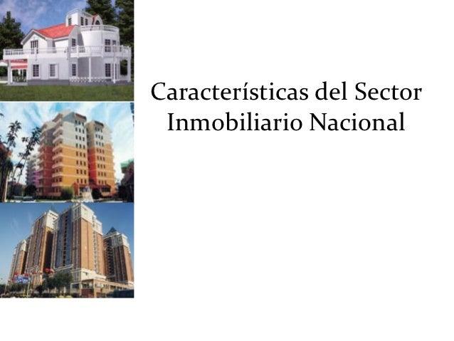 Características del Sector Inmobiliario Nacional