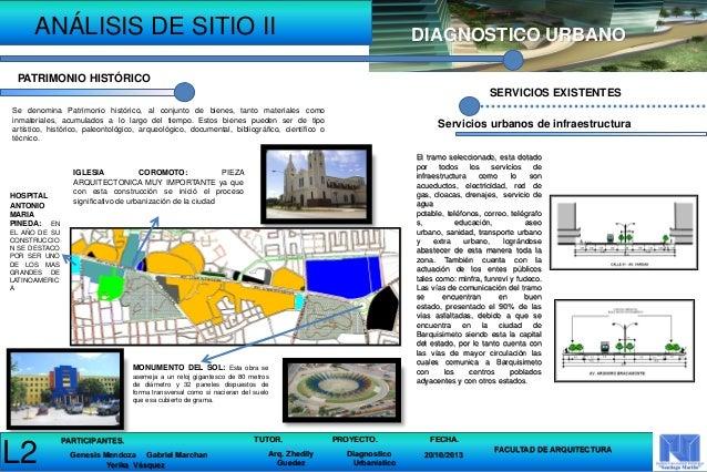 Analisis de sitio ii diagnostico urbanistico for En que consiste la arquitectura