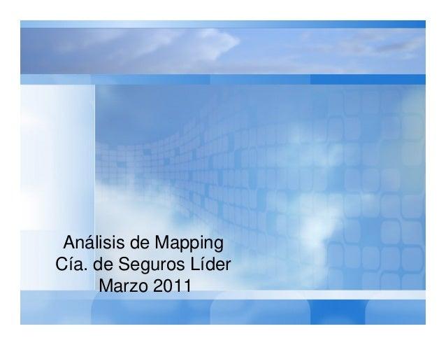 Análisis de Mapping Cía. de Seguros Líder Marzo 2011