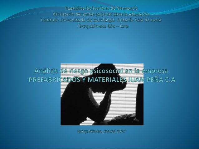 Con respecto a la especialidad de Psicosociología podemos distinguir los posibles Riesgos psicosociales: -Estrés laboral. ...