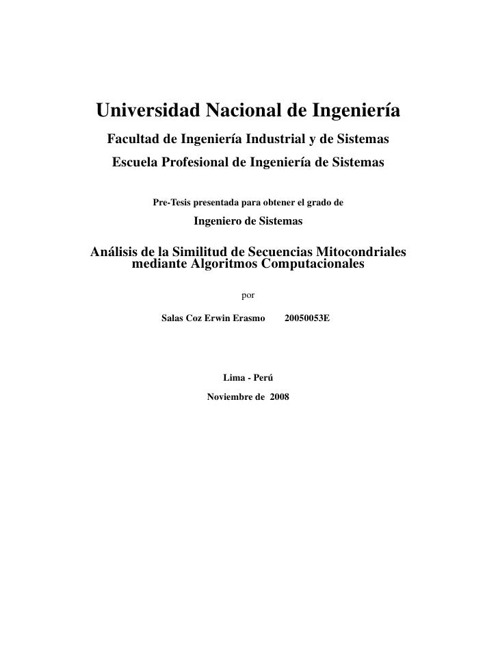 Universidad Nacional de Ingenier´a                                 ı   Facultad de Ingenier´a Industrial y de Sistemas    ...