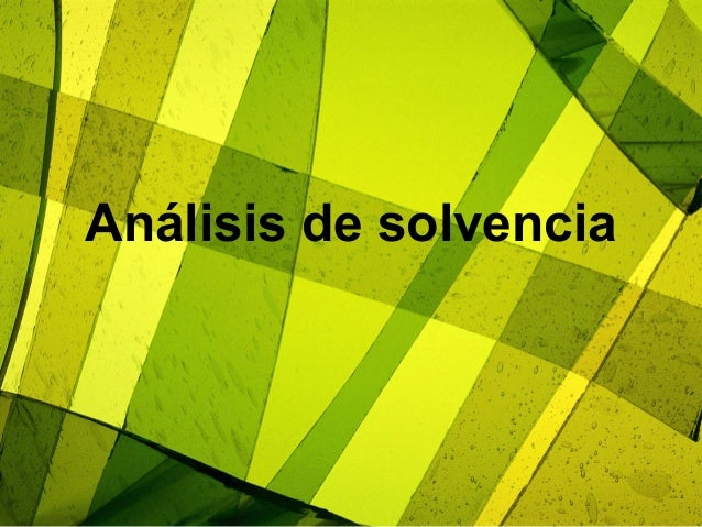 Análisis de solvencia