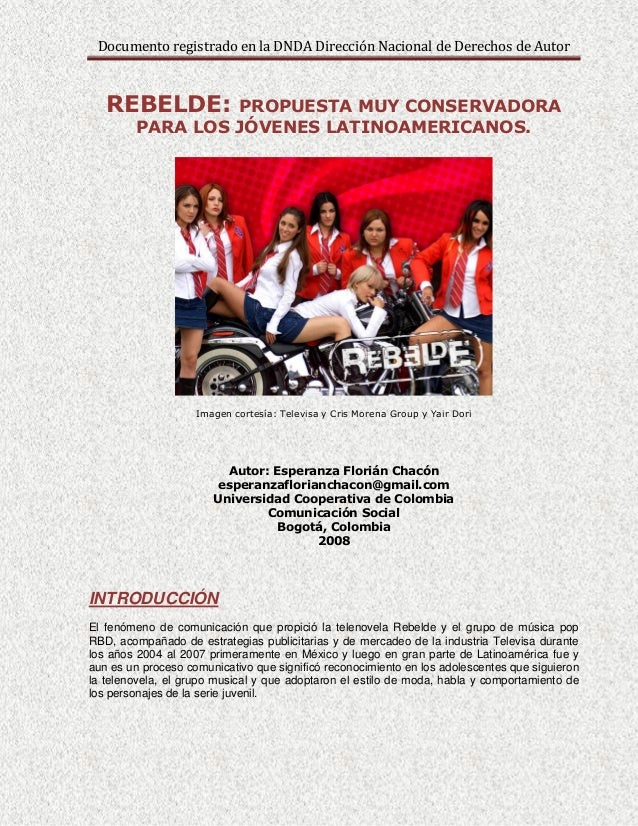 Análisis de la Telenovela Rebelde