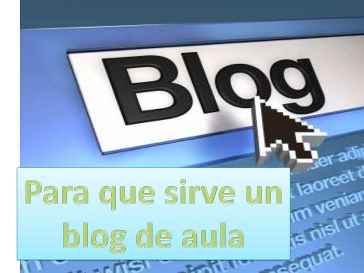 Analisis de un blog         en el aula Slide 2