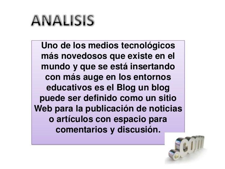 Analisis de un blog         en el aula Slide 3