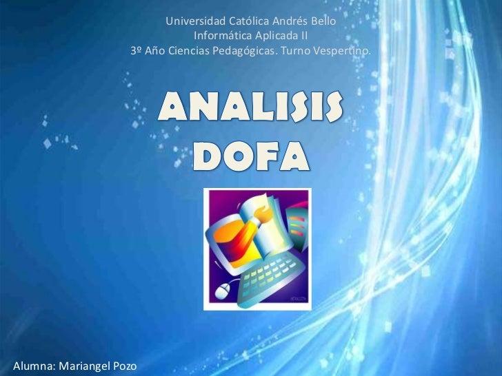 Universidad Católica Andrés Bello                                Informática Aplicada II                    3º Año Ciencia...