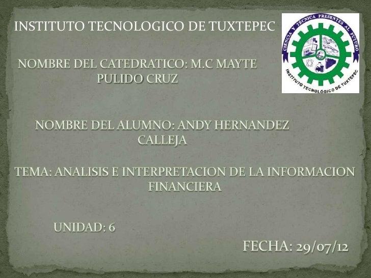 INSTITUTO TECNOLOGICO DE TUXTEPEC