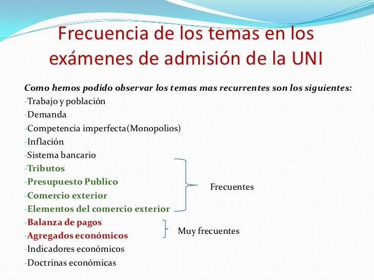 Examen De Admision Uni