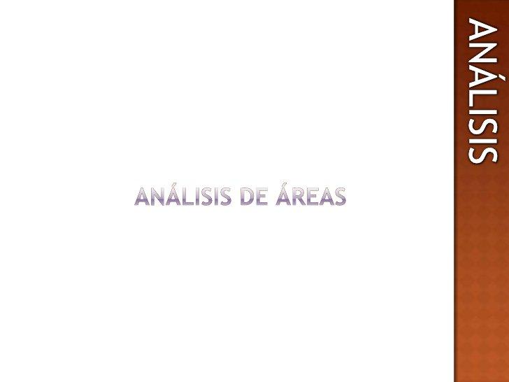 ANALISIS<br />ANÁLISIS<br />ANÁLISIS DE ÁREAS<br />