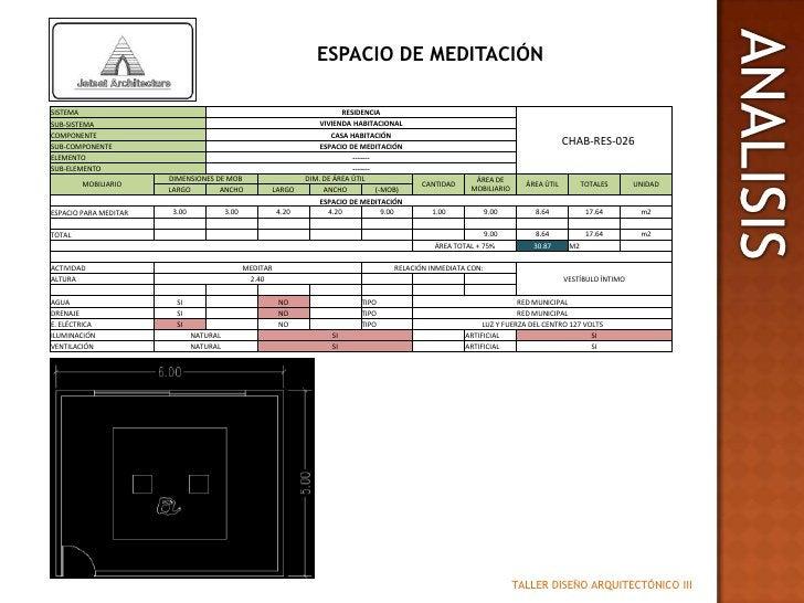 ESPACIO DE MEDITACIÓN<br />ANALISIS<br />TALLER DISEÑO ARQUITECTÓNICO III<br />