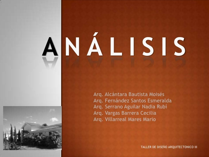 Analisis Arquitectonico Slide 2