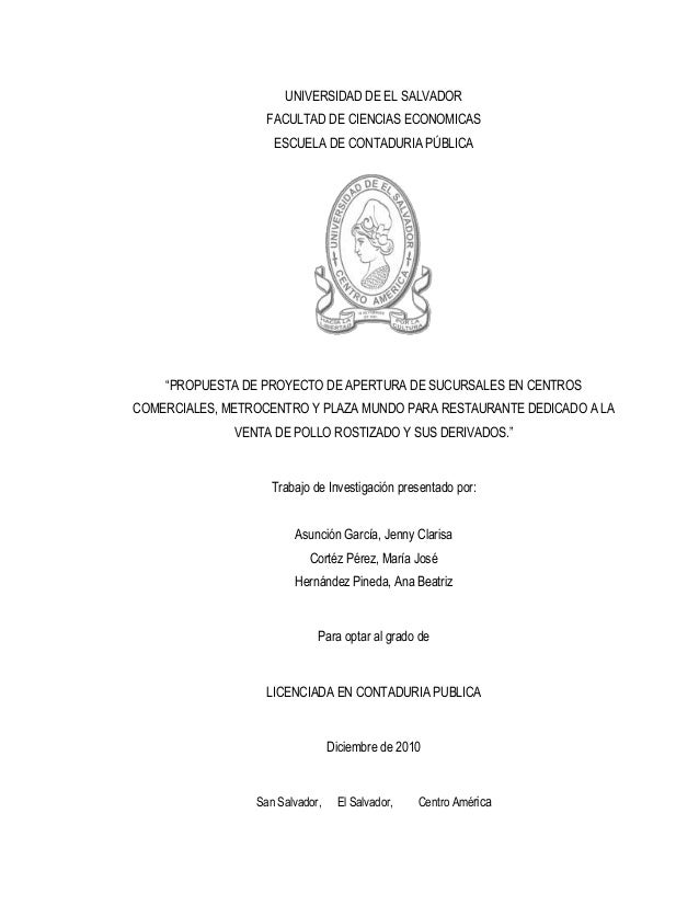 UNIVERSIDAD DE EL SALVADOR                   FACULTAD DE CIENCIAS ECONOMICAS                    ESCUELA DE CONTADURIA PÚBL...
