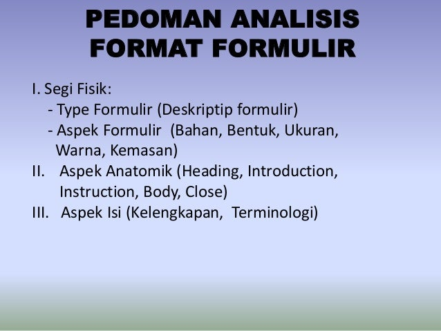 analisis formulir resume medis